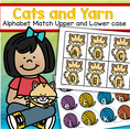 Alphabet center - match upper cats and lower case balls of yarn.