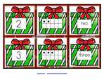 Christmas presents number cards 0-10, 3 cards per number for sequencing, recognition, matching etc Free