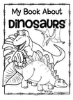 Dinosaurs read, color and draw - 12 pages, make a book.