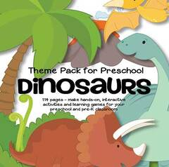 Dinosaur theme pack for preschool
