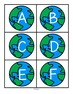 Planet Earth upper case alphabet cards to match and sort