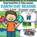 Earth Day emergent reader in color and b/w -