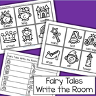 Fairy tales write the room activity.