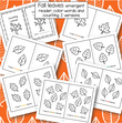 Fall leaves emergent reader, 2 versions. Count groups of leaves to 6, 5 color names plus