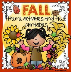 Fall theme activities and printables for preschool and kindergarten
