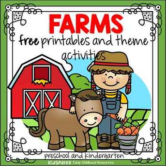 Farm theme free printables and activities for preschool and kindergarten