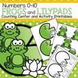 Frog theme counting center for preschoolers