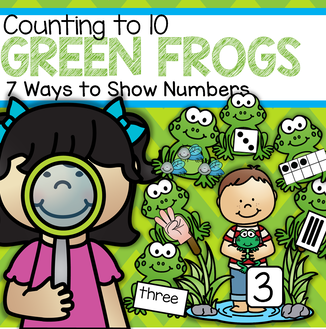 Green frogs counting to 10 hands-on center for preschool and kindergarten