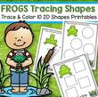 Frogs theme tracing 10 shapes/10 pages.
