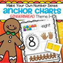 Children make their own cut and paste Gingerbread themed number sense anchor charts. Can also be used as a center. 10 pages.