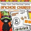 HAlloween theme anchor charts 1-10 - children cut and paste to make their own.