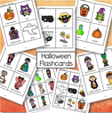 Set of Halloween flashcards - 7 pages