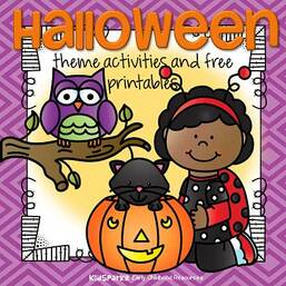Halloween theme activities and printables for preschool and kindergarten.
