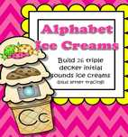 Alphabet Ice Creams Initial Sounds Match and Sort