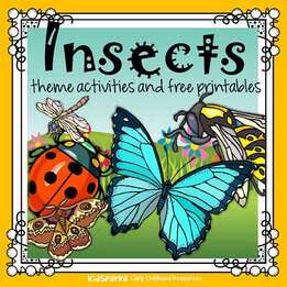 photo about Insects Printable identify Bugs topic routines and printables for preschool and