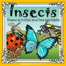 Insects theme collection of activities and printables, using realistic graphics and photos. 128 pages