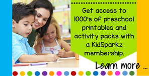 Get access to 100's of preschool printables and activity packs with a KidSparkz membership.