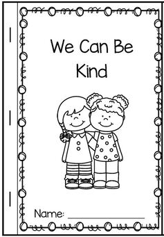 We Can Be Kind booklet at KidSparkz.com
