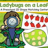 Match 9 ladybug shapes to shapes on a leaf