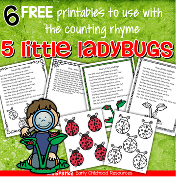 Free Downloads on Count The Ladybugs And Circle Numbers 1 To