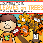 Counting to 10 hands-on center to make with a fall or autumn theme