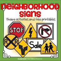 Neighborhood signs activities