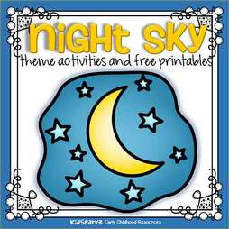 Night sky theme activities for preschool and kindergarten