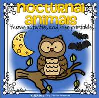 Nocturnal animals theme activities