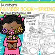 Make  a Spring Number Book 1-20, no-prep.