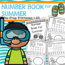 Make a SUMMER Number Book, 1-20, no prep
