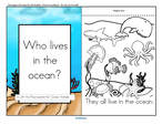 A Lift-the Flap ocean animals  emergent reader, plus puppets and vocabulary.