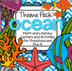 Preschool Ocean Animals theme activities and printables..