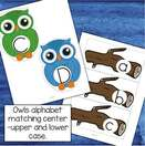 Owls alphabet matching upper and lower case letters. MEMBERS