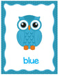 OWLS  colors posters - 11 colors , plus smaller flashcards and pages to color