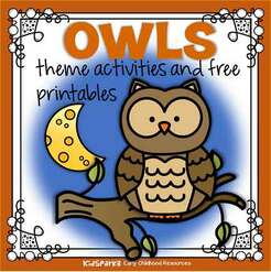 Owls theme activities and printables for preschool