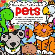 Make centers and learning games about pets for preschool