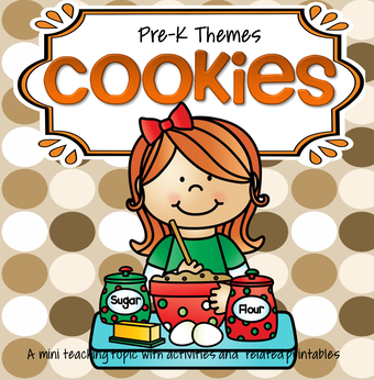 Cookies theme pack for preschool and pre-K