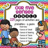 The Five Senses bundle includes all 6 packs at a great discounted price.  Perfect for your All About Me theme unit.