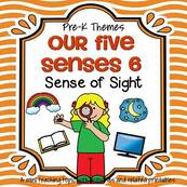 Our Five Senses 6 - Sense of Sight - theme pack for preschool and pre-K.