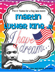 Martin Luther King theme unit for preschool and kindergarten