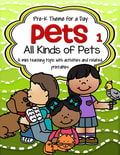 Pets theme pack for preschool