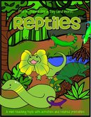 REPTILES - theme pack for preschool and pre-K  - 44 pages