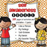 The Self Awareness bundle includes all 5 packs at a great discounted price.  Perfect for your All About Me theme unit