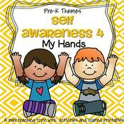 Self Awareness 4 - My Hands - theme pack for preschool and pre-K