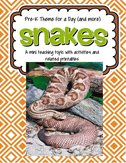 Snakes - theme pack for preschool and pre-K  - 40 pages