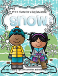 Snow theme pack for preschool