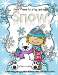 WINTER - SNOW theme pack includes all the activities and printables (to make hands-on centers and games) that you need for a full day of teaching - and more. 47 pages.