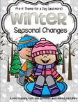 WINTER - Seasonal Changes. Preschool theme includes all the activities and printables (to make hands-on centers and games) that you need for a full day of teaching - and more. 31 pages.