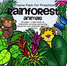 RAINFOREST ANIMALS theme pack - 120 pages.