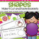 9 SHAPES Booklets Cut and Paste